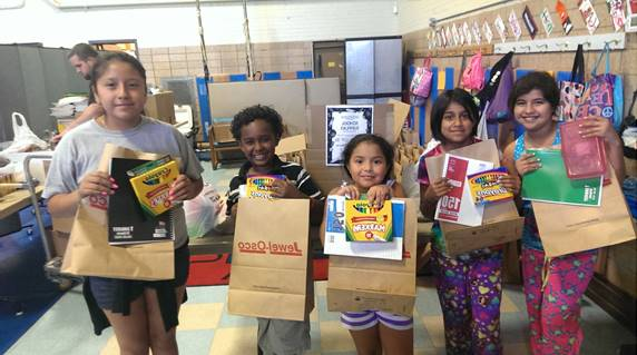 Life at Forum: Children with School Supplies